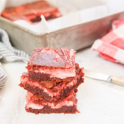 Gluten Free Red Velvet Cheesecake Bars