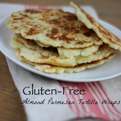 Gluten-Free Almond Parmesan Tortilla Wraps