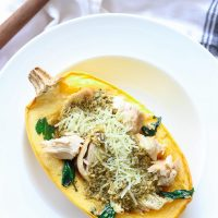 Pesto Chicken Spaghetti Squash