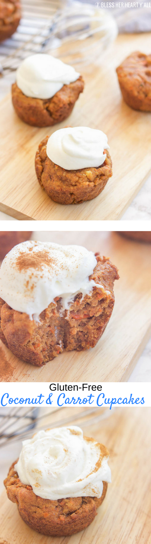 gluten-free coconut and carrot cupcakes