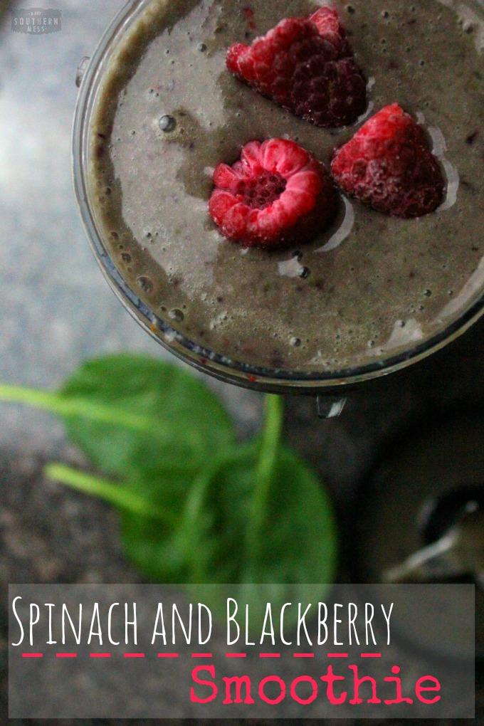 Spinach And Blackberry Smoothie using greek yogurt and gluten-free ingredients