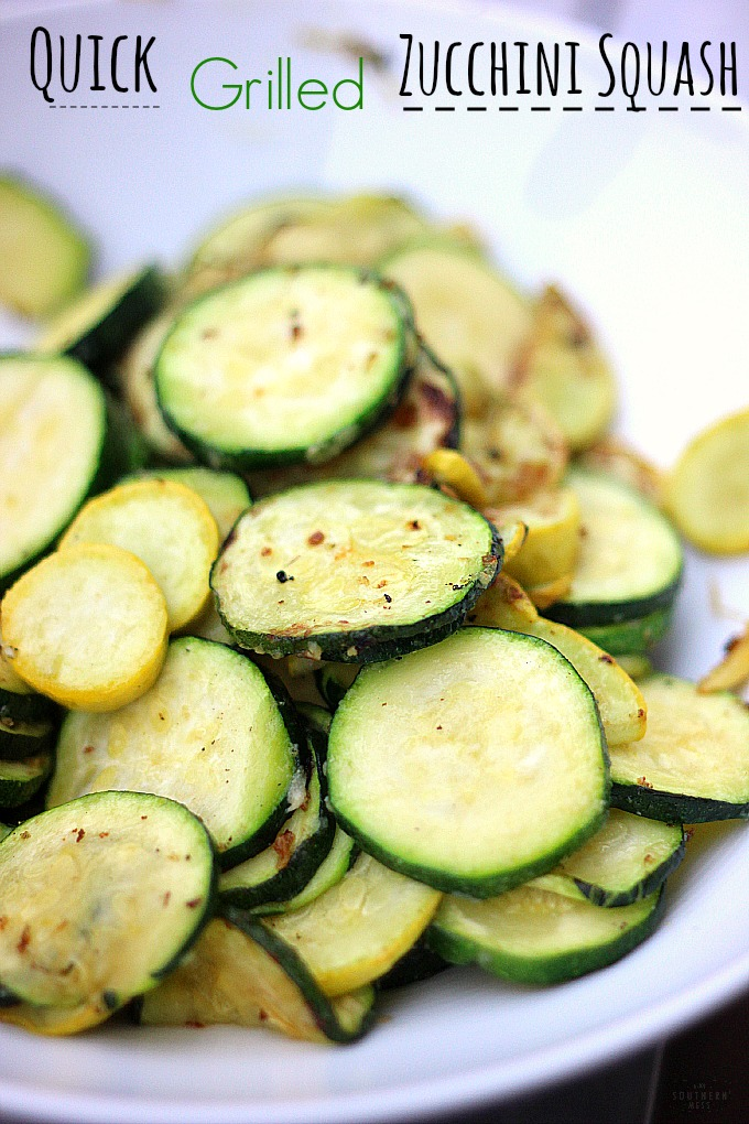 Quick Grilled Zucchini Squash recipe that  you have to try!