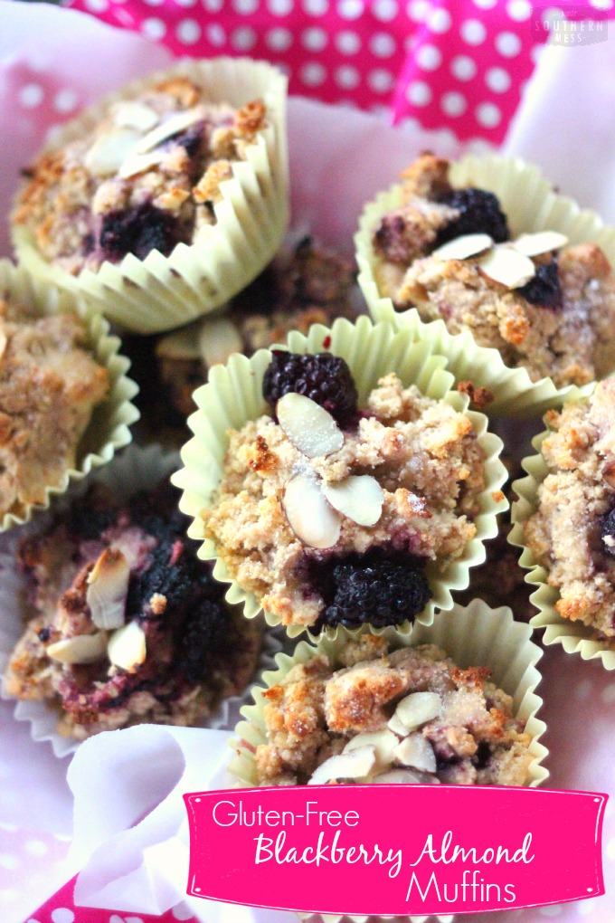 Gluten-Free Blackberry Almond Muffins