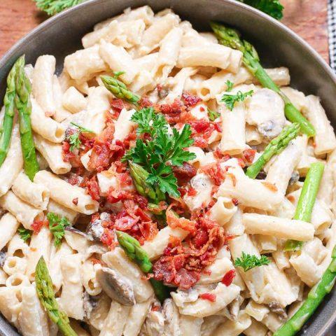 Bacon and Mushroom Pasta Gluten-Free