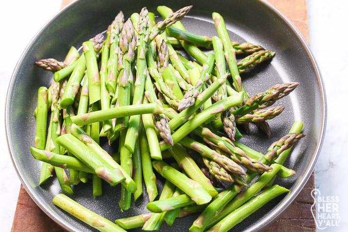Asparagus forBacon and Mushroom Pasta Gluten-Free
