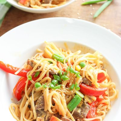 Easy Beef Pad Thai