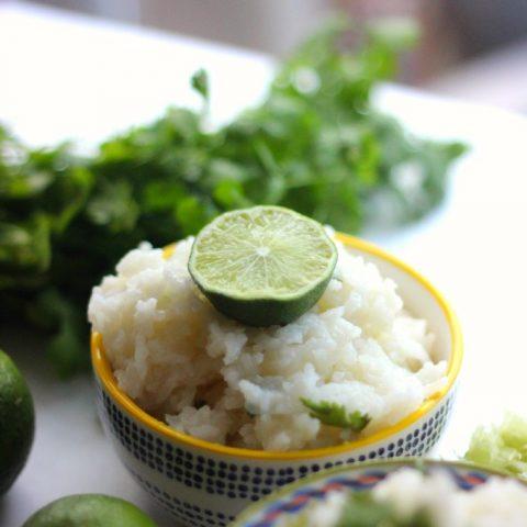Easy Garlic Cilantro Lime Rice
