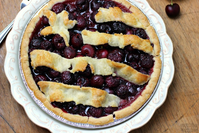 This all-american classic is perfect all summer long, from Memorial Day to the Forth of July to Labor Day, this easy, fresh, gluten-free moonshine cherry pie will be a hit at any summer party! Find the easy recipe at www.ahotsouthernmess.com