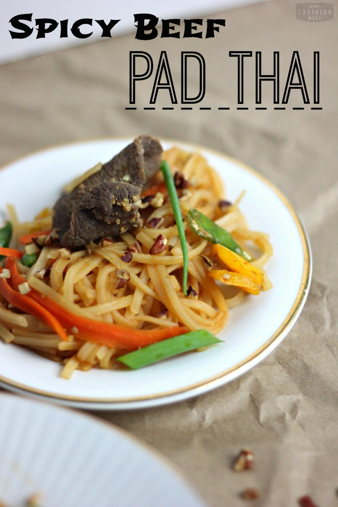 spicy beef pad thai recipe takes only 20 minutes to prepare and cost ...