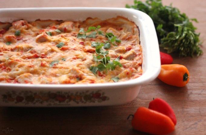 Gluten-Free Spicy King Ranch Chicken Casserole Recipe