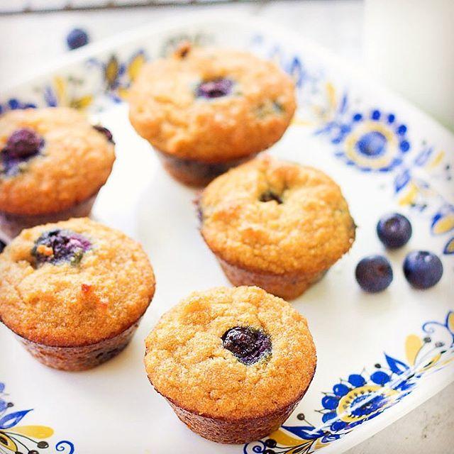 These GrainFree DairyFree GlutenFree Blueberry Mini Muffins are all thehellip