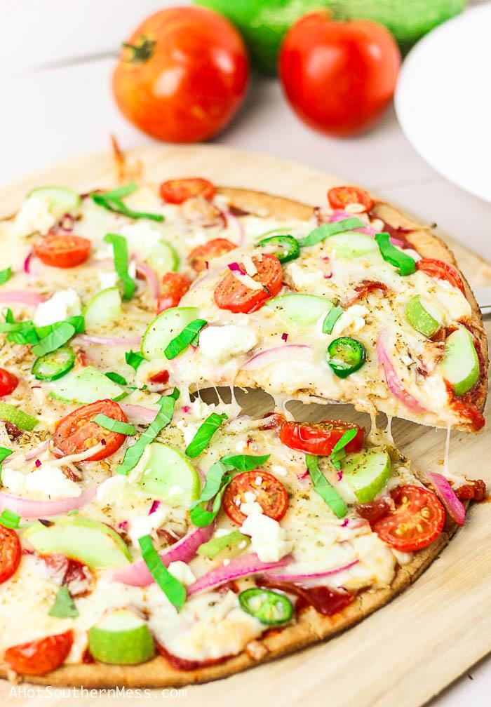 cucumber pizza