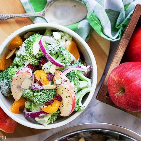 How about a Healthy Fall Broccoli Salad to start yourhellip