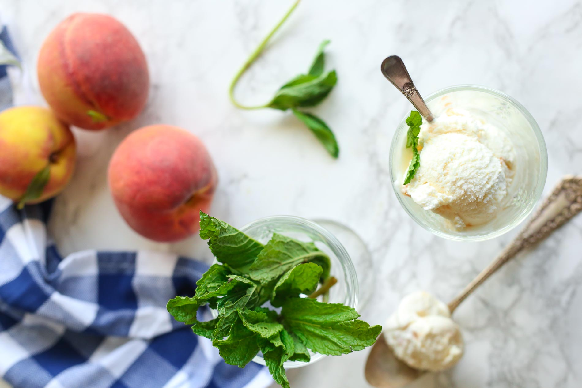Peaches & Cream Ice Cream