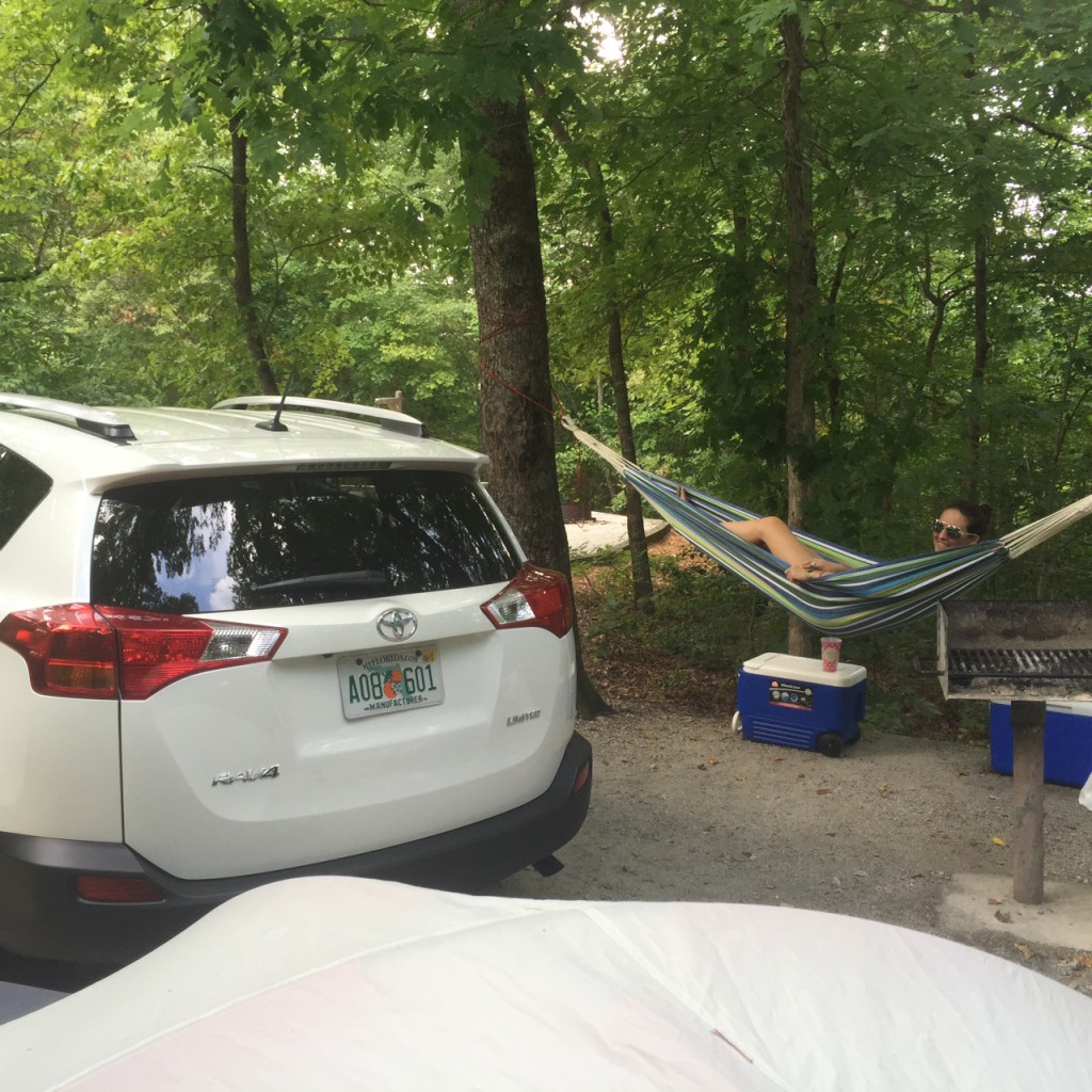 How to camp in the north Georgia mountains with a brand new Toyota RAV4 www.blessherheartyall.com