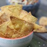 Baked Spicy Chili Lime Tortilla Chips (Gluten-Free)