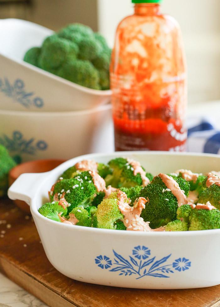 sriracha mayo cream broccoli image 2
