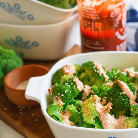 sriracha mayo cream broccoli