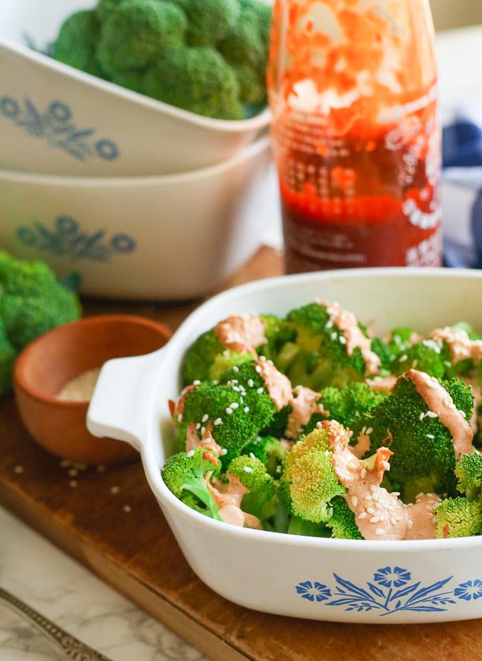 sriracha mayo cream broccoli recipe