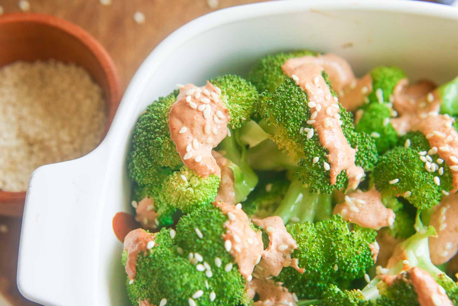 sriracha mayo cream broccoli recipe picture