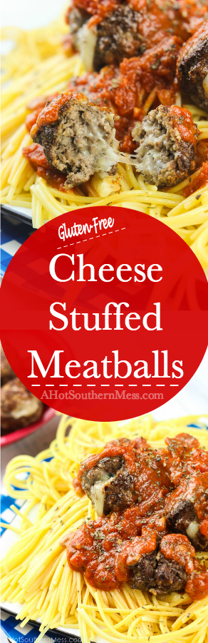cheese stuffed meatballs long pin