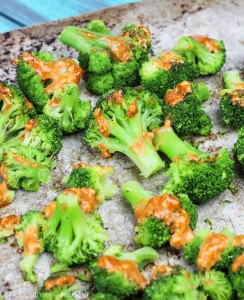 Roasted Sriracha Cream Broccoli