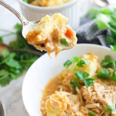 Spicy Gluten-Free Slow Cooker Chicken And Dumplings
