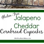 These gluten-free jalapeno cheddar cornbread cupcakes are very quick and easy to put together. The jalapeno adds some spice, the cheddar some heartiness, and the honey drizzle some sweet to finish it off. A delicious side dish to any meal that needs to warm you up and keep your belly happy. www.ahotsouthernmess.com