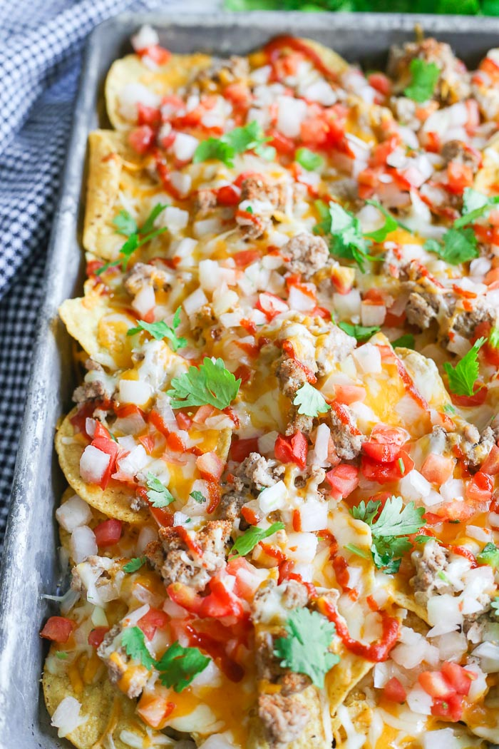 Leftover Turkey Nachos