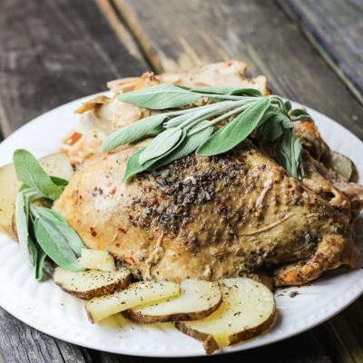 Spicy Sage Slow Cooker Turkey