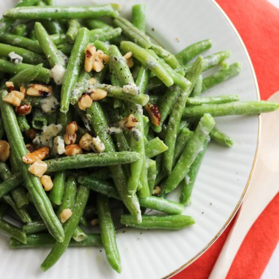 Easy Blue Cheese Green Beans