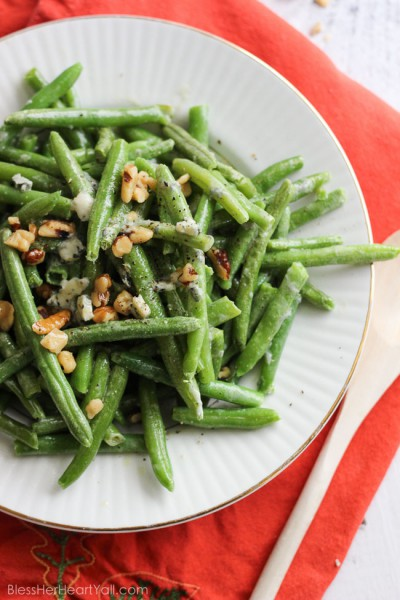 Easy Bleu Cheese Green Beans