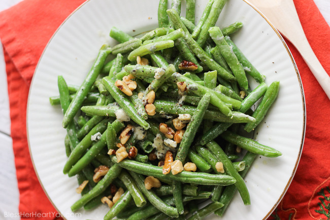 Easy Bleu Cheese Green Beans Fresh Green Beans Are Prepared Can Be Prepared In Two