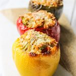 These gluten-free Thanksgiving leftovers stuffed bell peppers are the perfect excuse to eating up all those holiday leftovers. Pop these peppers in the oven after you have stuffed them silly with turkey, leftover dressing, some brown rice, and spices. Don't forget to top with shredded parmesan and sprinkle with rosemary! www.blessherheartyall.com