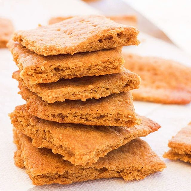Easy homemade Paleo GlutenFree Graham Crackers are perfect for allhellip