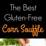 This is the best gluten-free corn souffle in the entire world {and is so easy to put together and throw in the oven!}! Creamy cheesy gluten-free ingredients are mixed and melted together, baked to sweet perfection with sweet crunchy toppings on top! www.blessherheartyall.com