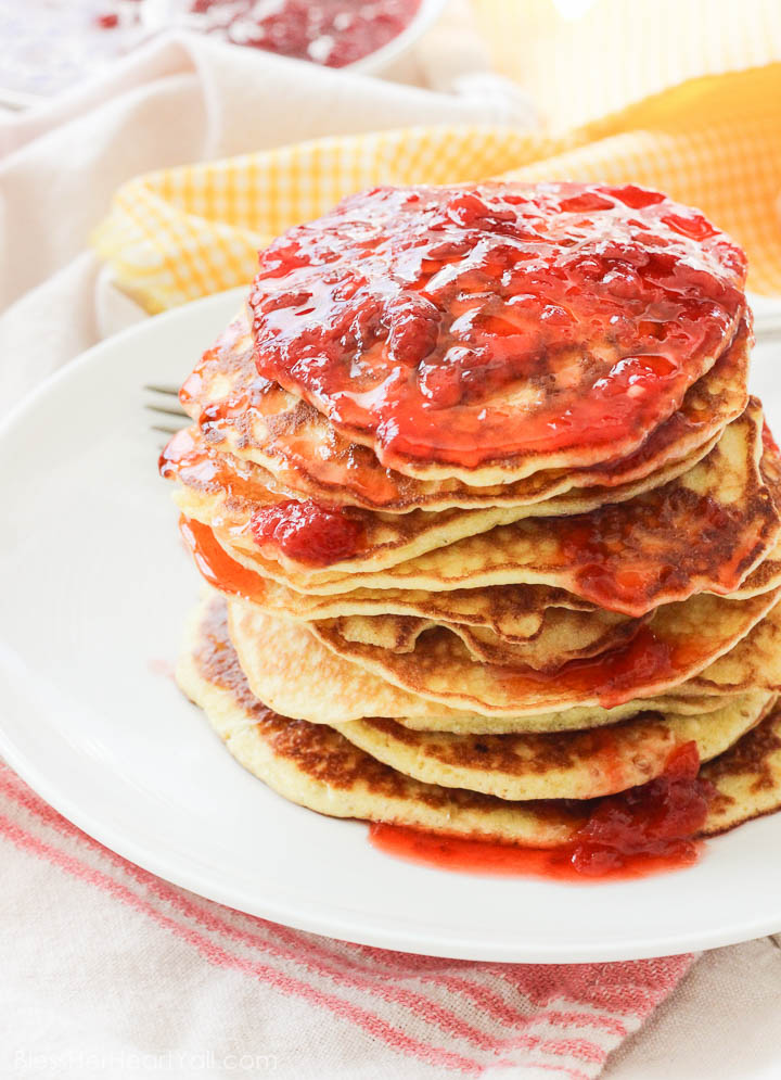 gluten-free pancakes strawberry champagne sauce (5 of 7)