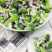 Skinny Greek Yogurt Broccoli Salad