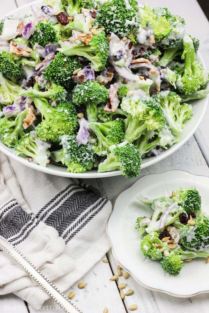 Skinny Greek Yogurt Broccoli Salad