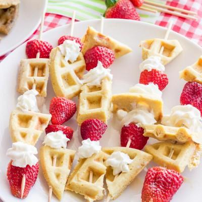 Gluten-Free Waffle Skewers