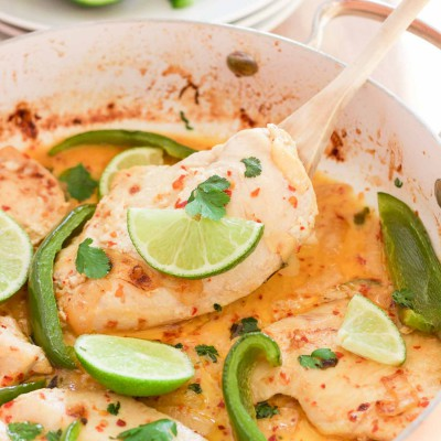 Fresh Creamy Cilantro Lime Chicken