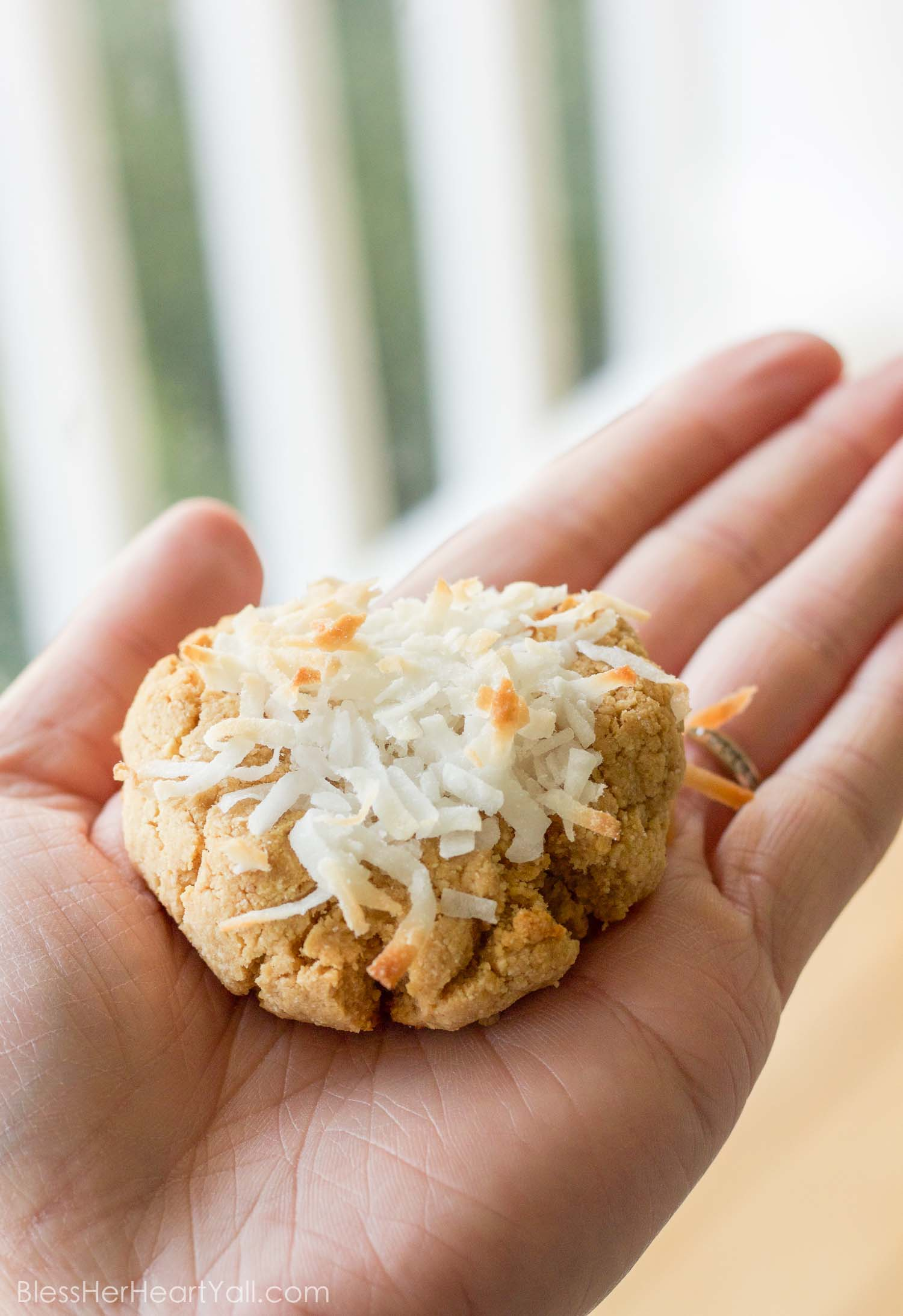 Smashed Coconut Peanut Butter Cookies