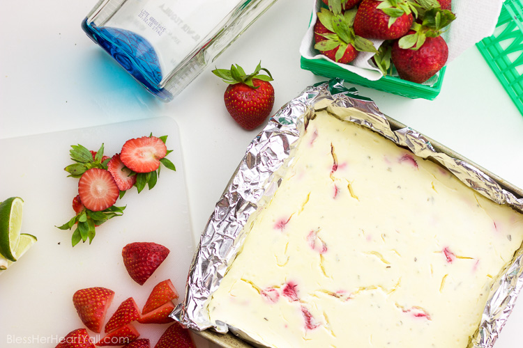 Gluten Free Strawberry Margarita Cheesecake