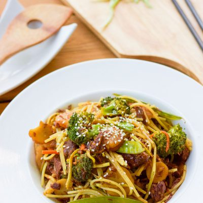 Slow Cooker Beef Lo Mein