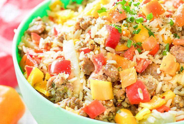 Gluten-Free Chopped Stuffed Pepper Salad