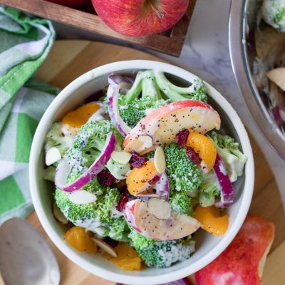 Healthy Fall Broccoli Salad