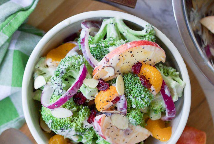 Healthy Fall Broccoli Salad