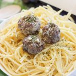These simple oven baked paleo meatballs (video included!) are the bomb! Okay but seriously, just combine some grass-fed beef with garlic, onion, egg, liquid aminos, and a little bit of salt and pepper. Roll them up and toss them in the oven for a few minutes and your family will have a whole mess of juicy paleo, gluten-free, and grain-free meatballs!