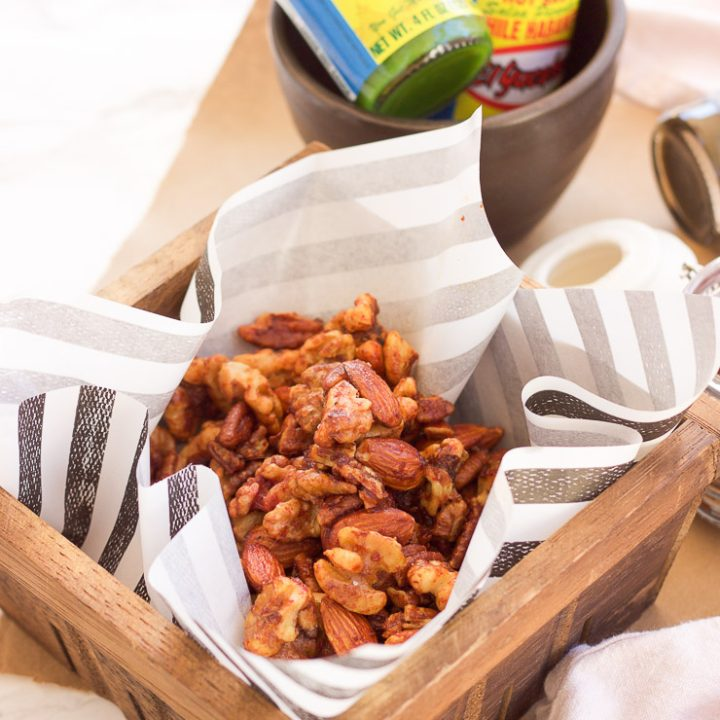 This sweet roasted habanero nut recipe combines sweet coconut sugar with garlic and habanero sauce before perfectly roasting your favorite nuts. The sweet and spicy finger food snack is perfect for tailgating and holiday parties.