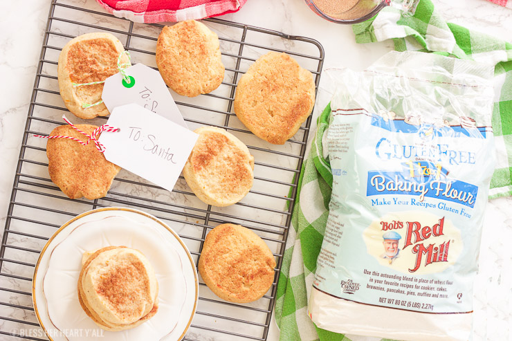 These Georgia peach snickerdoodle cookies are gluten-free and so simple! Sweet potato is hidden inside as a healthier alternative, and peach preserves serve up warm bites of chewy peach in every bite. Crunchy on the outside, perfect on the inside.